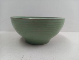 Bloempot in groen met ribbel nr. 392-4 /  Planter in green with ribs nr. 392-4