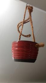 Jan de Graaf rood oranje hangpot / Jan de Graaf red orange hanging planter