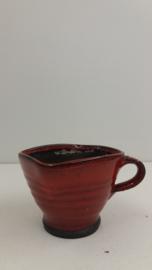 Potterie de Graaf vuur test potje rood / Pottery de Graaf fire tess jar red