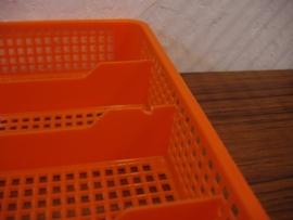 Oranje bestekbak / Orange cutlery tray