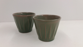 Set bloempotten in groen van Sphinx / Set planters in green by Sphinx