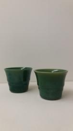 Klein bloempotje in groen 8.5 cm. 2111 / Little planter in green 3.3 inch. 2111