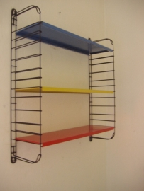 Tomado 3 planken Mondriaan kleuren / Tomado 3 shelves Mondriaan colours