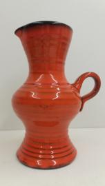 Zware oranje kan van Speck potterie?  / Heavy orange jug by Speck pottery?
