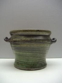Speck  grijs groene bloempot 11 cm. / Gray green planter 4.3 inch.