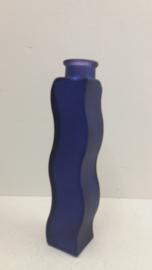 Ikea kaarsenstandaard glas donker blauw fles / Ikea candle stand glass dark blue