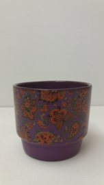 Paarse pot met paisley in 291 / Purple planter with paisley in 291