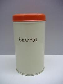 Beschuitbus in creme en oranje / Rusk container in creme and orange