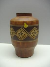 Vaas van Sawa in bruin decor 220/1 / Vase by Sawa in brown with 220/1