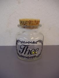 Voorraad pot voor thee 14 cm.  / Storage jar for tea 5.5 inch.