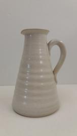 Witte zware kan 16.5 cm. van Gubbels / Heavy white jug 6.5 inch by Gubbels