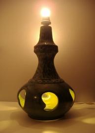 Grote vloerlamp in groen Bay-keramik 50 cm.