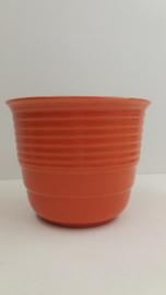Oranje bloempot Wenco 1114 15 cm. / Orange planter by Wenco 1114 5.9 inch