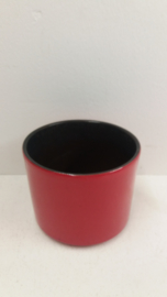 Rode bloempot in nummer 2119 maat 3 / Red planter in number 2119 size 3