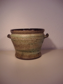 "Speck Groen grijze bloempot 10.5 cm. / Green gray planter with 4.1"""