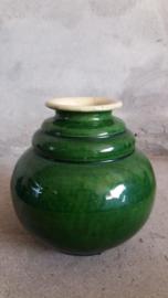 Groninger steenfabriek groen vaas 1006 / green vase 1006