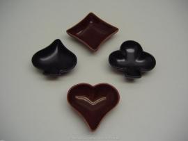 Asbak setje kaarten / Set ashtrays in playing cards