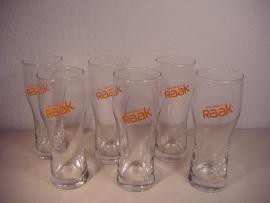 Mijn smaak is RAAK 6 glazen / My taste is RAAK 6 glasses