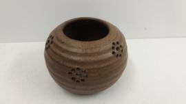 Waxine houder in bruin van Jan de Graaf / Waxine holder in brown by Jan de Graaf