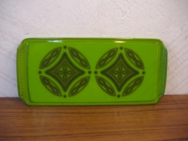 Cakeschaal in groen 36 cm. / Cake dish in green 14.1 inch.
