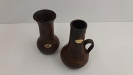 Setje in bruin van Jan de Graaf / Set in brown by Jan de Graaf