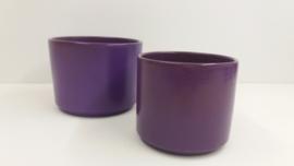 2 bloempotten in paars nr 2119 / 2 planters in purple nr 2119