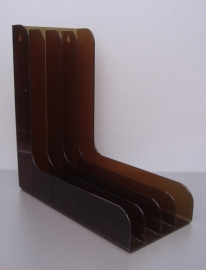 Lp houder in transparant bruin Discofoon  / Lp Holder in transparant brown