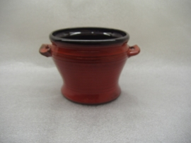 Speck Rood met oortjes 10 x 13 cm. / Red with little handles 3.1 x 5.1 inch.