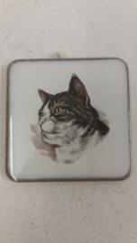 Lief katten tegeltje 6 centimeter / Sweet cat tile 2.3 inch