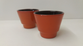 Bloempotje in oranje  nr. 2117 maat 1 / Little planter in orange nr. 2117 size 1