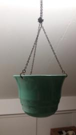 Planthanger in groen nummer 2111 / Hanging planter in green number 2111