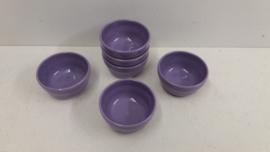 Setje paarse schaaltjes 7.5 cm. / Set purple bowls 2.9 inch.