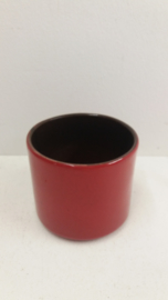 Rode bloempot in nummer 2119 maat 1 / Red planter in number 2119 size 1