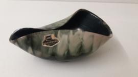 Groen gewolkt schaaltje uniek / Green clouded bowl unique