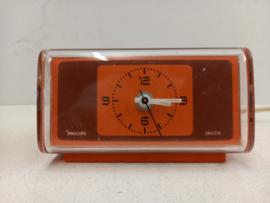 Philips oranje wekkertje type HR5284 / Philips orange alarm clock type HR5284