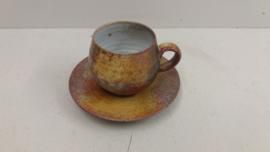 Mooie kop en schotel DOK keramiek de Olde Kruyk / Nice cup and saucer DOK ceramics