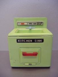 Blikken keukenblokje / Little tin kitchen sink