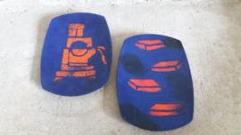 Hoogovens Richard Braun 2 schaaltjes / Hoogovens Richard Braun 2 plates