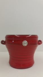Speck Rood met oortjes 12.5 x 17 cm. / Red with little handles 4.9 x 6.7 inch.