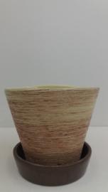 Hangpot met geschuurde klei 2100 / Hanging planter with coarse clay 2100