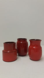 set van 3 vergelijkbare vaasjes / set of 3 comparable little vases