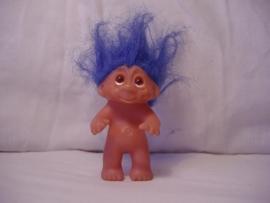 Kleine trol blauw 10 cm.