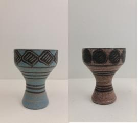 Bronkhorst 2 bekervasen grove glazuur / Bronkhorst 2 mug  vases in coarse glace