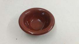 Snack schaaltje in bruin 14 cm.  /  Snack bowl in bruin 5.5 inch.