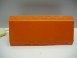 Oranje wand klap lampje 20 cm.