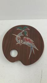 """L`ancora Kera-Teak schaaltje met vogel 15.5 cm. / Bowl with bird 6.1"""""""