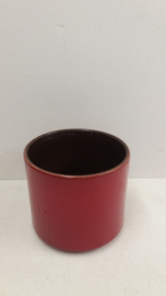 Rode bloempot in nummer 2119 maat 2 / Red planter in number 2119 size 2