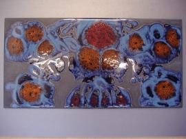 Grote tegel met funky print / Big tile with funky print  N349