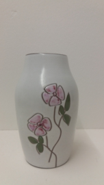 "Mooie vaas met een roze bloem 15 cm. / Nice vase with a pink flower 5.9"""