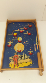 Oud knikkerspel ruimtevaart / Old marbles game space travel